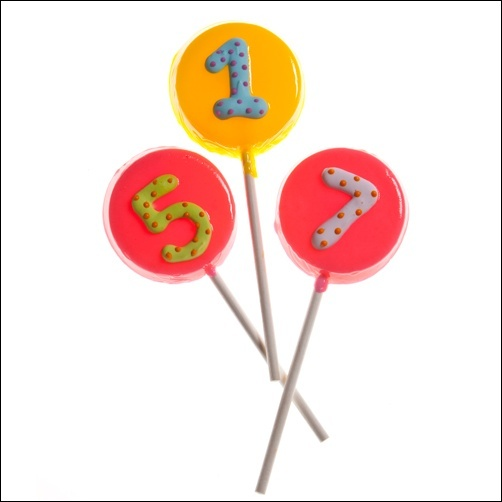 Jumbo Size Pops With Birthday Age. Choose Your Favorite Flavor!