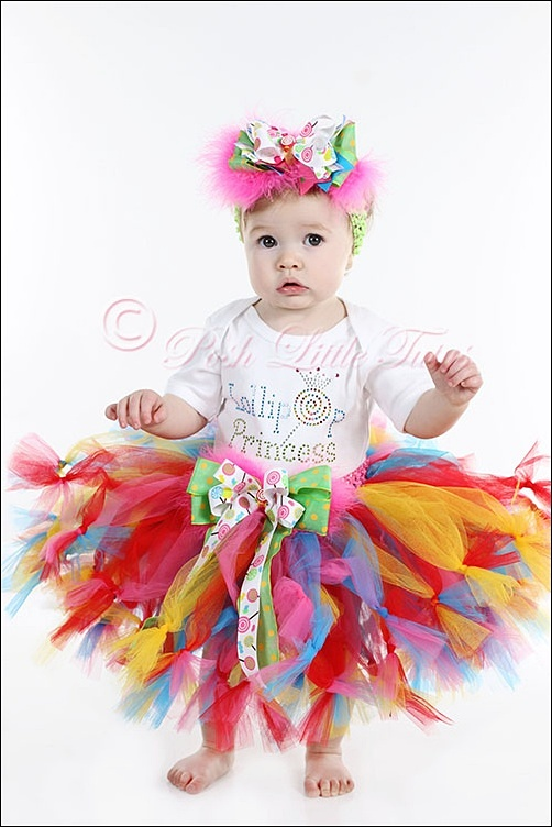 A Colorful Birthday Tutu Outfit For The Little Princess!